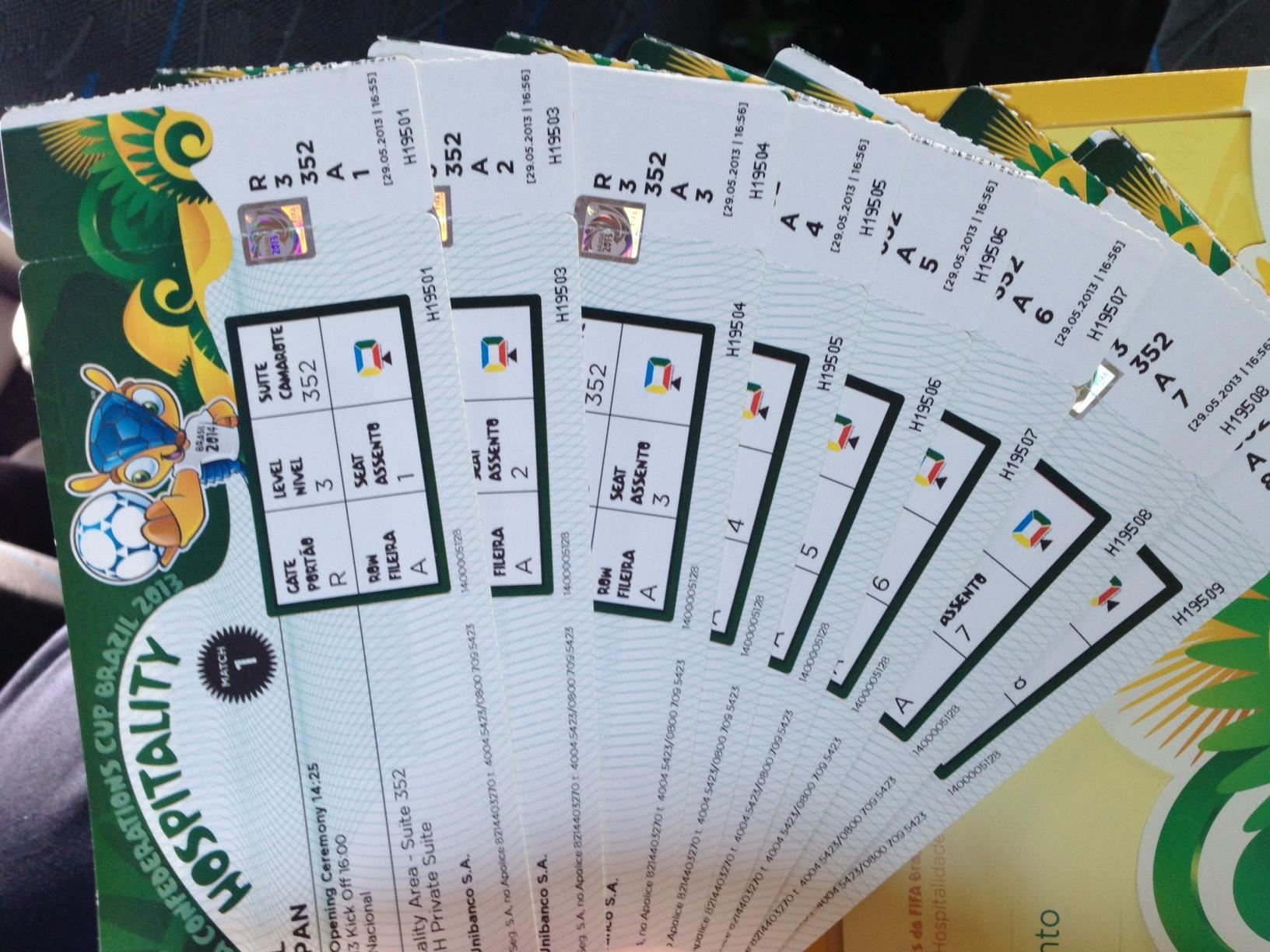 Os ingressos