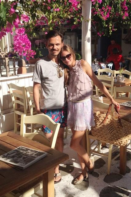 Olivia e o designer Matthew Williamson
