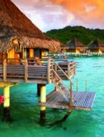 Bora Bora (Praia da Matira) - Muitas praias do Tahiti são propriedade privada, mas felizmente os turistas ainda podem curtir algumas, como a de Martira, em Bora Bora. Alias, lugar onde muitos casais passam sua lua de mel!