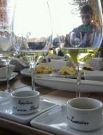 Grupos pequenos podem marcar uma degustação de vinhos, azeites, queijos da região e azeitonas da propriedade, que valem por uma refeição