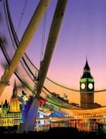 - London Eye: é também uma das atrações mais visitadas e conhecida de Londres, uma roda gigante imensa que fica bem perto do Palácio de Westminster, a beira do rio Tâmisa, próximo ao Big Ben, com uma vista fantástica de Londres.