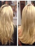 Esse é o antes e depois é do cabelo da Candice!