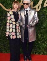 Anna Wintour e Karl Lagerfeld.